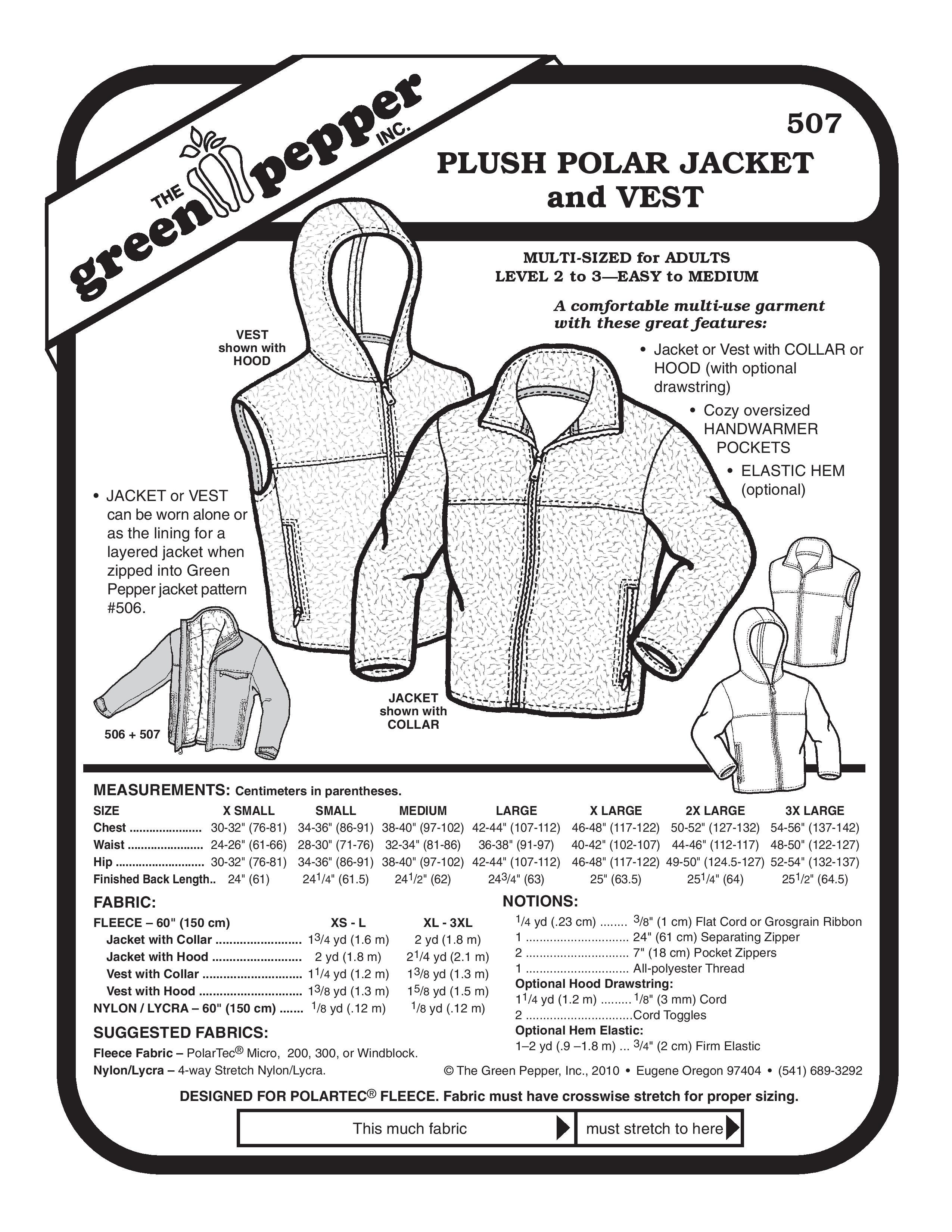 Plush Polar Jacket & Vest Sewing Pattern